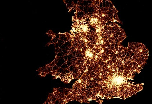 Heat Map: Every Auto Accident Resulting in Injury in Great Britain, 1999-2010