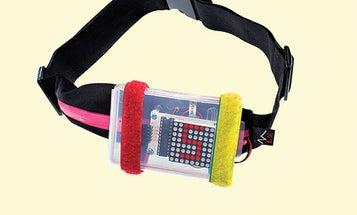 A Shining Speed Belt for Safer Twilight Jogs