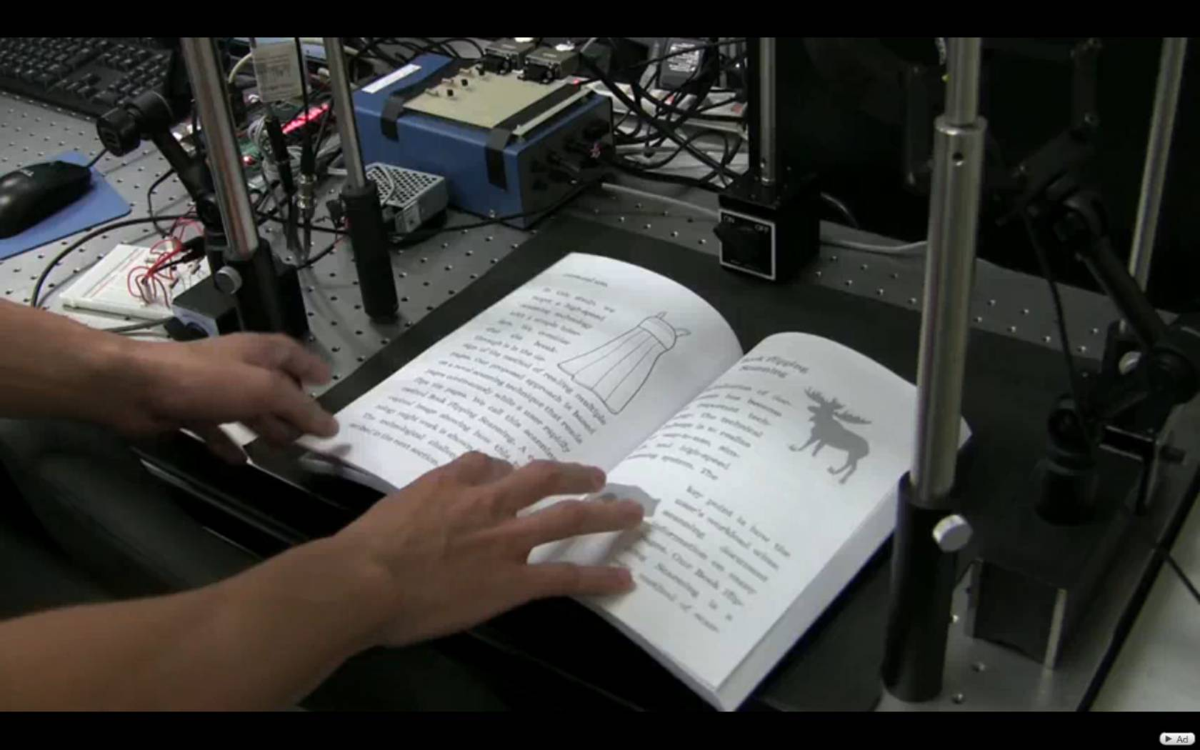 Video: Fastest Book Scanner Ever Captures Flipping Pages with High-Speed Camera