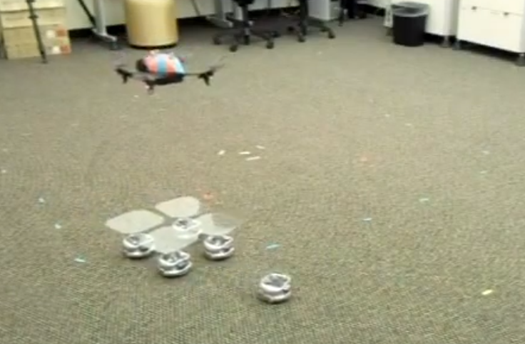 Video: Ground-Based 'Bots Swarm to Assemble a Landing Pad for Their Quadcopter Friend