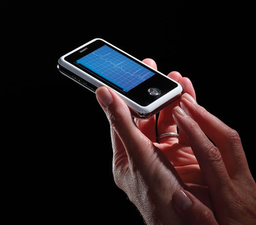 Electrocardiogram-Equipped Cell Phone Allows Remote Monitoring