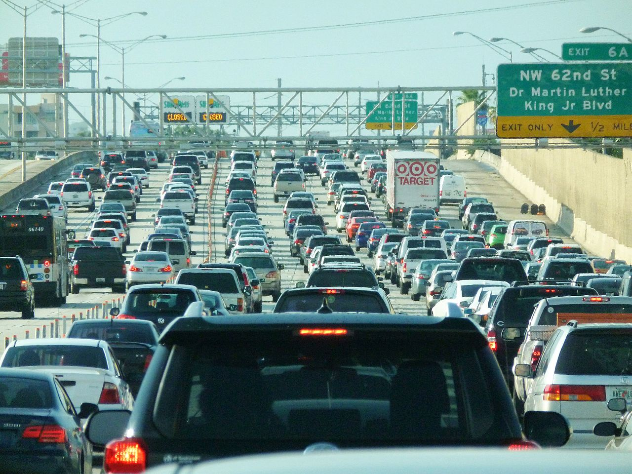 Interstate 95 Traffic Jam In Miami