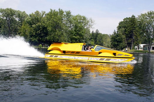 For Sale Now: One 762-Horsepower, Bright-Yellow Amphibious Hot Rod, Barely Used