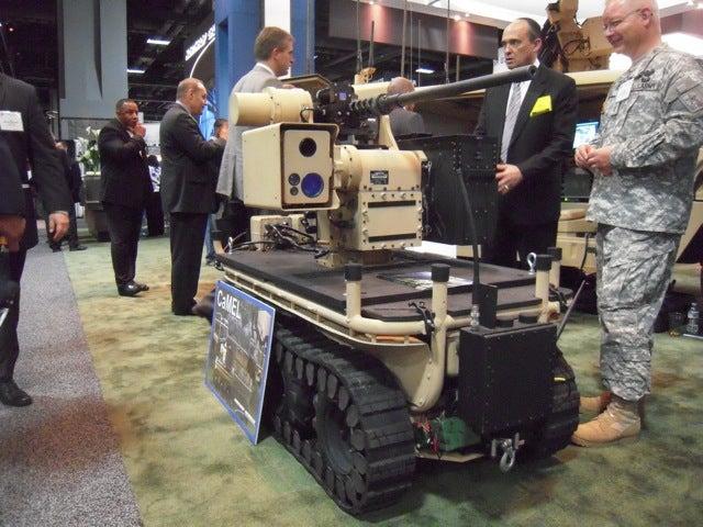 Northrop Shows Off a Touchscreen-Controlled Robot Wielding a Giant Machine Gun