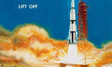 An Apollo Lunar Landing Told Through Vintage Art