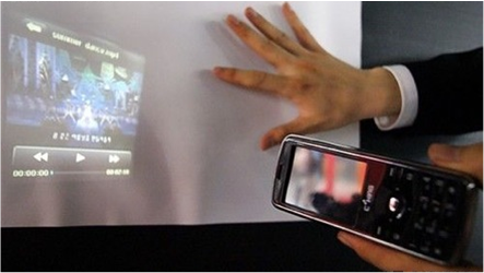 First Cell Phone With Built-In Projector?