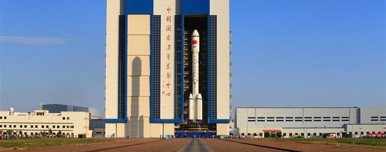 tiangong-2 on the launchpad