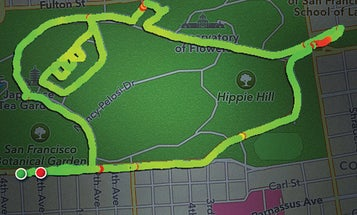 Runner Data-Logs Her Jogs To Draw Pictures On A Map