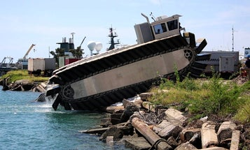 How It Works: An Amphibious Vehicle That Can Carry Three Tanks