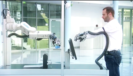 Video: A 3-D Printed Exoskeletal Glove Gives Precision Control of a Super-Strong Robot Arm
