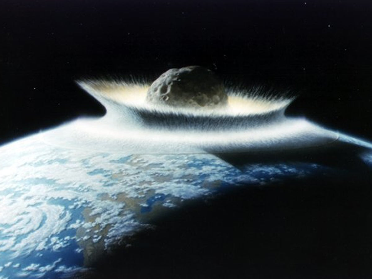 Did A Giant Asteroid Impact Make Earth's Rock Crust Splash Like Water?
