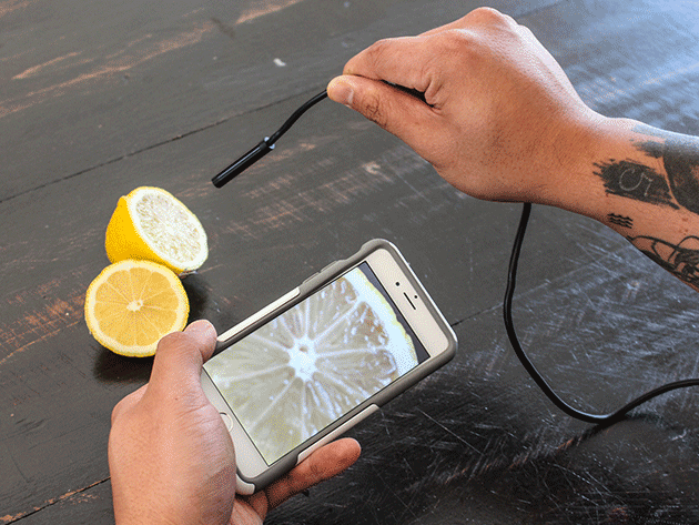 This endoscopic camera helps you diagnose problems in tight spaces