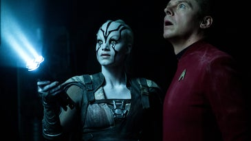 Jaylah and Scotty in *Star Trek Beyond*