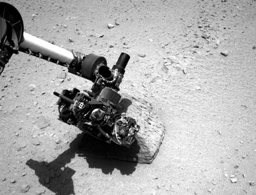 Today On Mars: Curiosity Chemically Examines Its First Rock