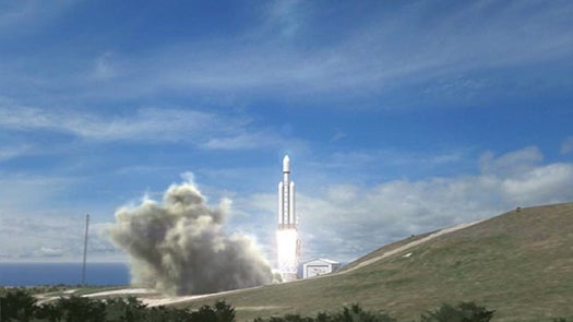 SpaceX Unveils its New 'Falcon Heavy' Rocket, a 22-Story Heavy-Lift Behemoth
