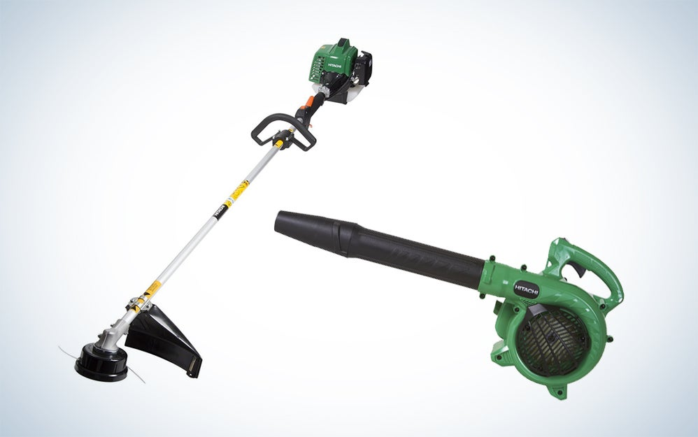 Hitachi leaf blower and weed-whacker