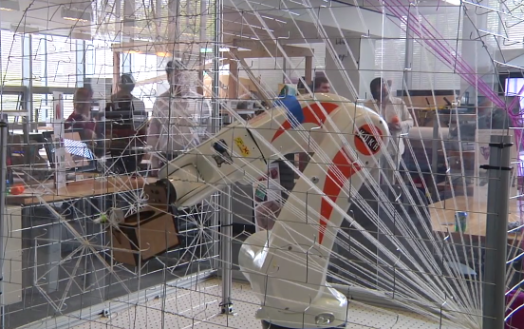 Video: A Robot 'Spider' Weaves an Intricate Web