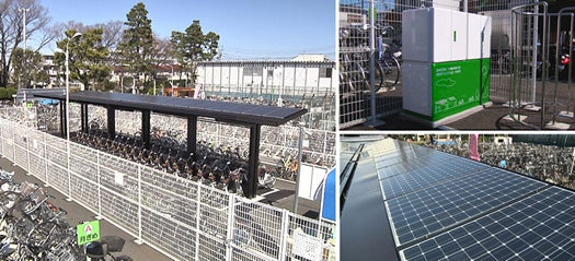 Sanyo's Solar Parking Lots Charge Community Bikes Without Tapping the Grid