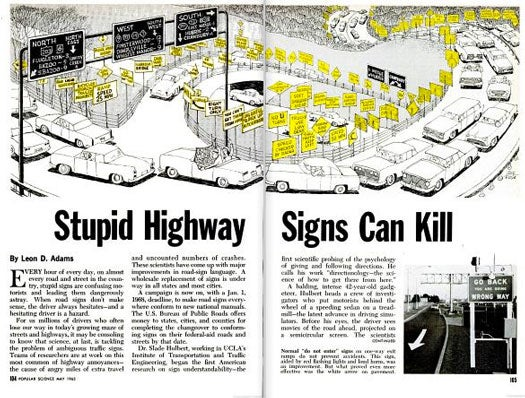 Killer Highway Signs: May 1965
