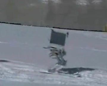 Robot Skier Kills the Bunny Hills, Not Ready For Black Diamond