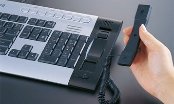 Keyboard and Skype Phone in One