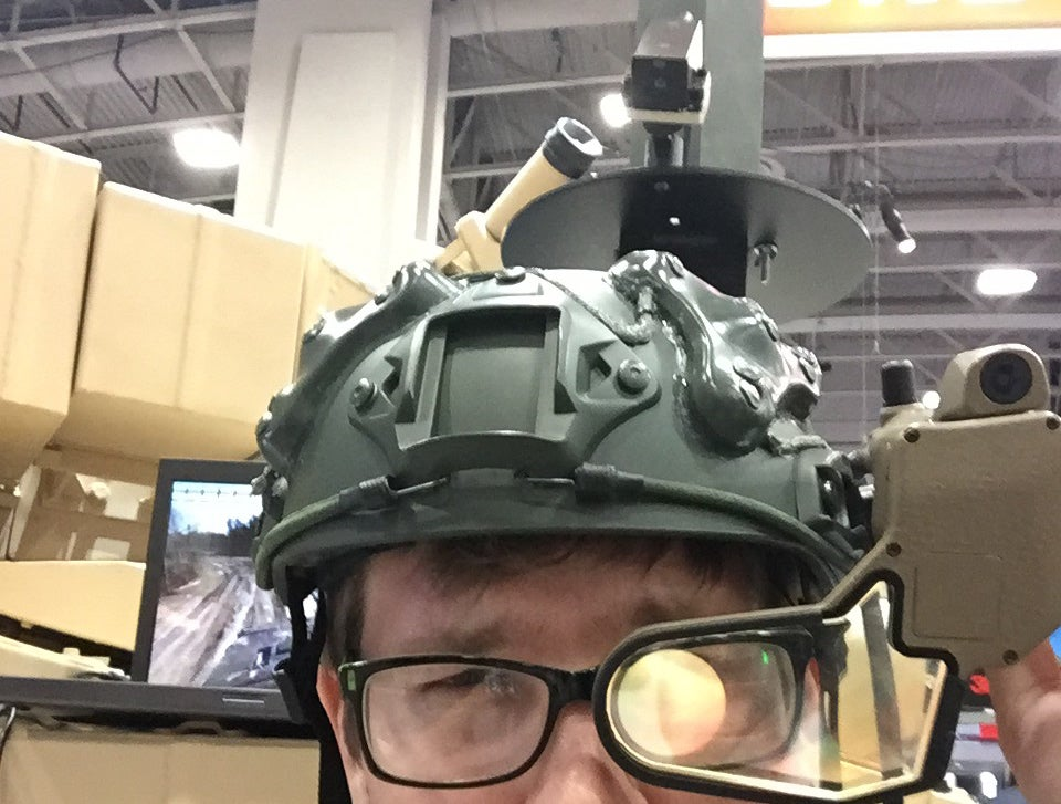 At Army Exposition, We Tried On BAE's Panoramic Camera System