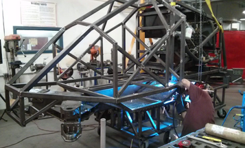 Smoke Rings And A Giant Six-Legged Robot, From Maker Faire 2014