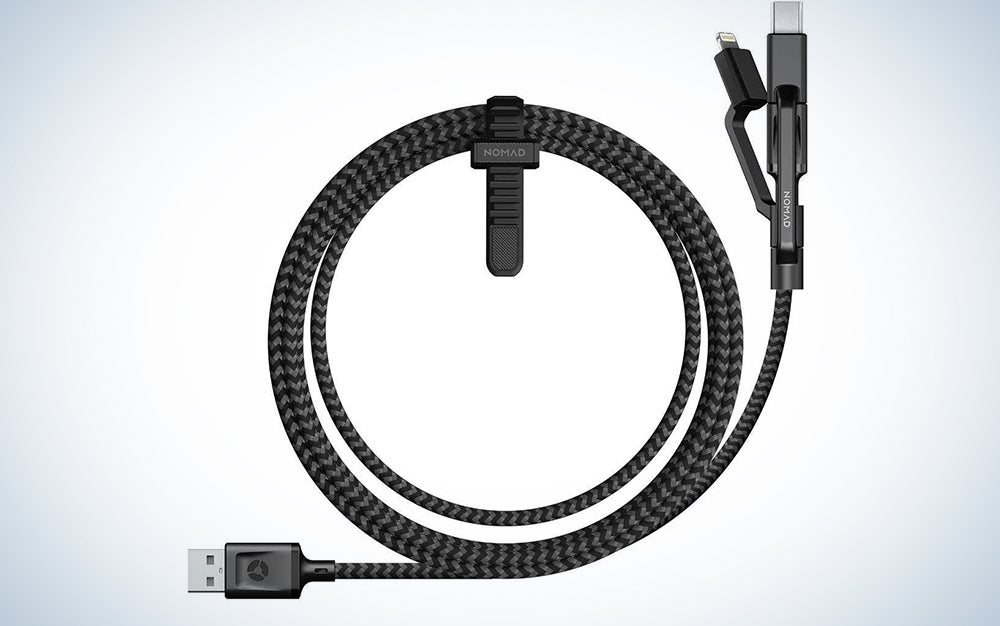 Nomad rugged multi-tip charging cable