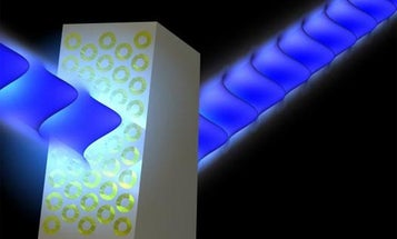 New Metamaterial First to Bend Light in the Visible Spectrum