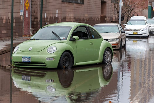 Flooded VW Bug