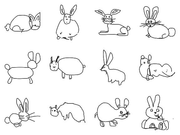Computer Learns to Recognize Badly Drawn Animals
