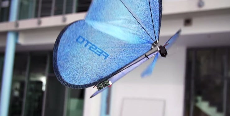 Watch A Flock Of Drone Butterflies Flutter Around [Video]