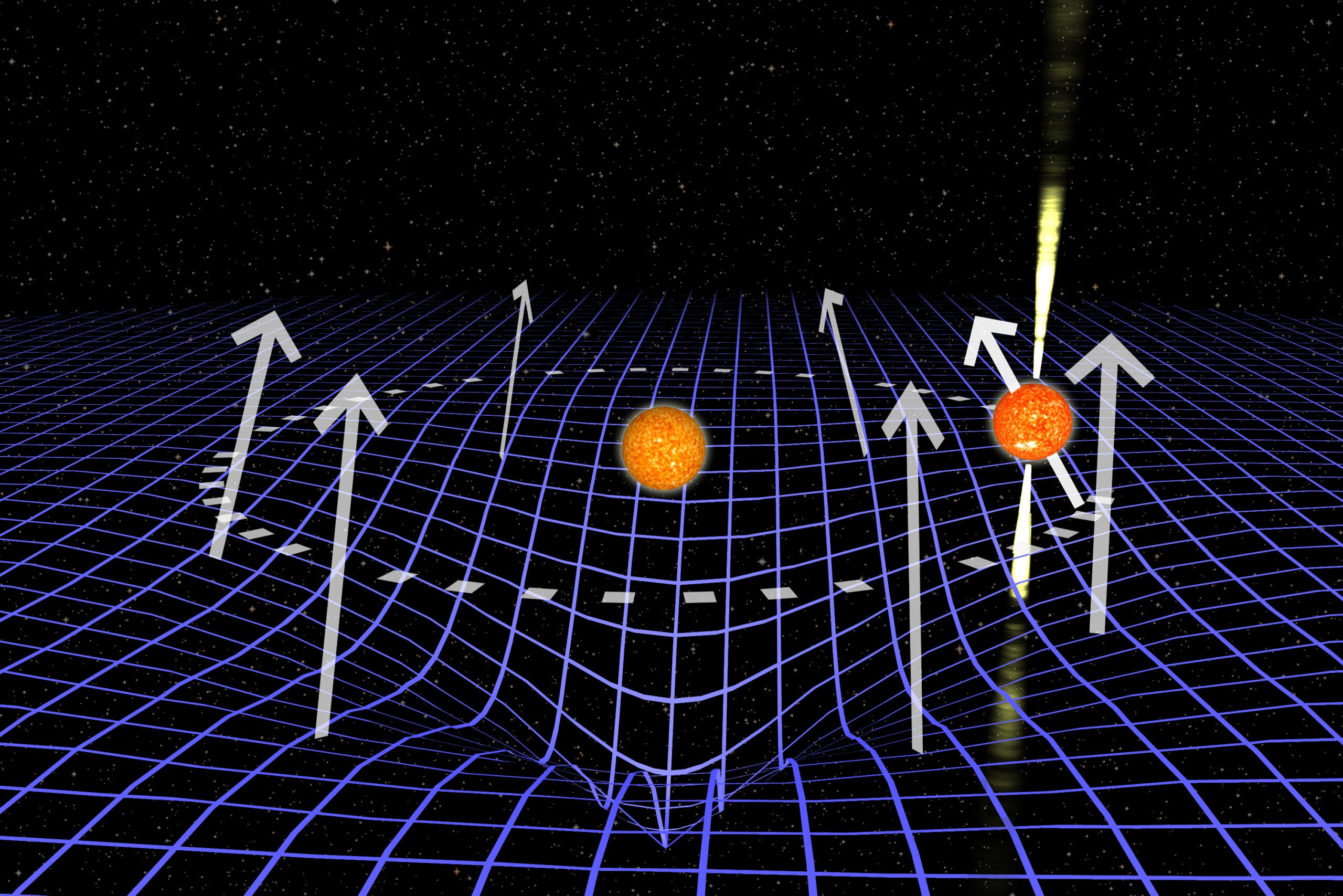 A Star Just Got Swallowed By A Warp In Space-Time