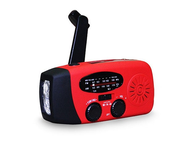 Upgrade your emergency kit with this multi-function radio and flashlight