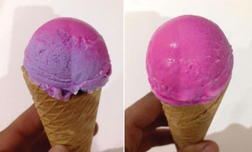 A Lick Of The Tongue Changes This Ice Cream's Color