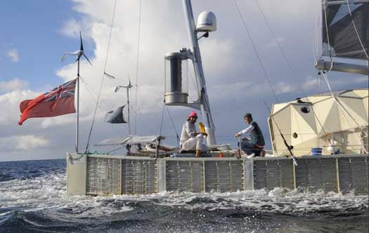 Plastiki, the Boat Constructed from Plastic Bottles, Sails into Sydney After Pacific Crossing