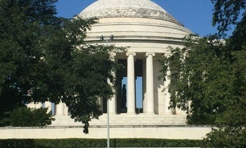 The Jefferson Memorial Is Slowly Being Covered In Slime