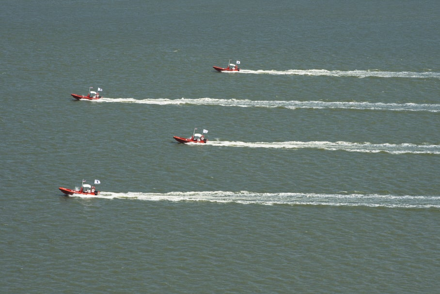 Navy Demonstrates Swarm Of Armed Robot Boats