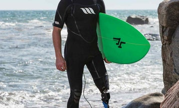 This shark-attack survivor created a new prosthetic to get back to surfing