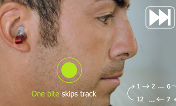 MP3 Player Lives In Your Ear, Controlled With Your Teeth