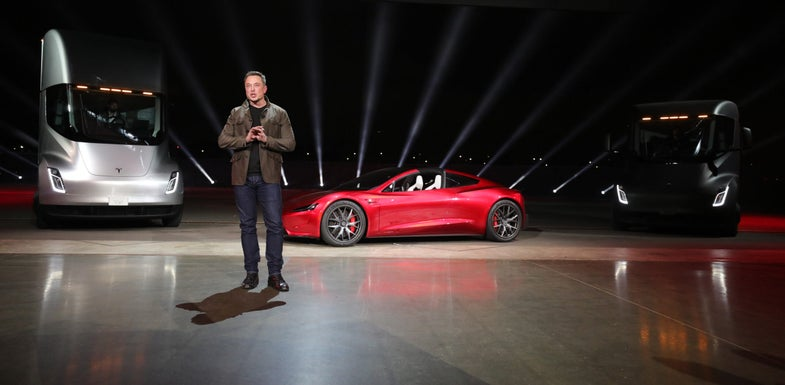 Tesla truck Roadster event