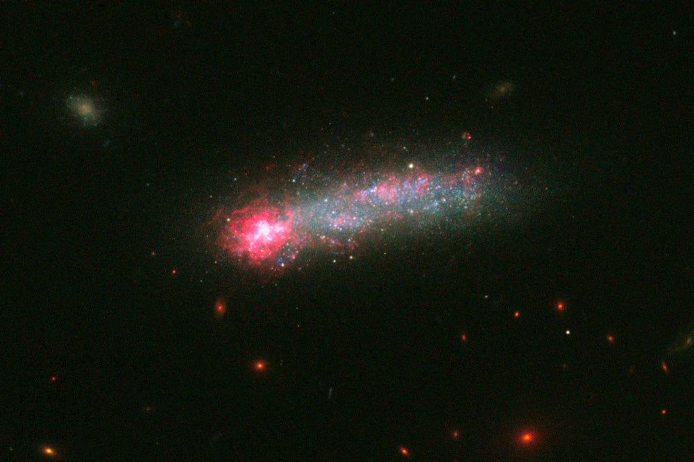 Hubble Finds A Fireworks-Filled Tadpole Rocketing Through Space