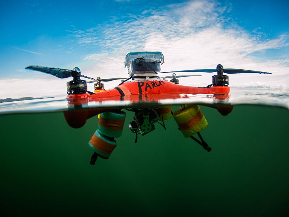 Drones can take scientists to strange new places—like inside whale snot