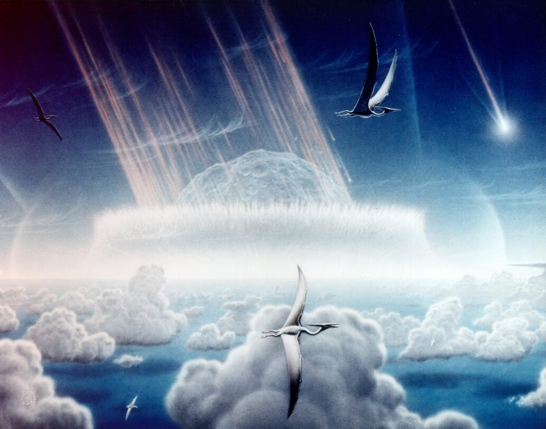 If that asteroid had been 30 seconds late, dinosaurs might rule the world and humans probably wouldn't exist