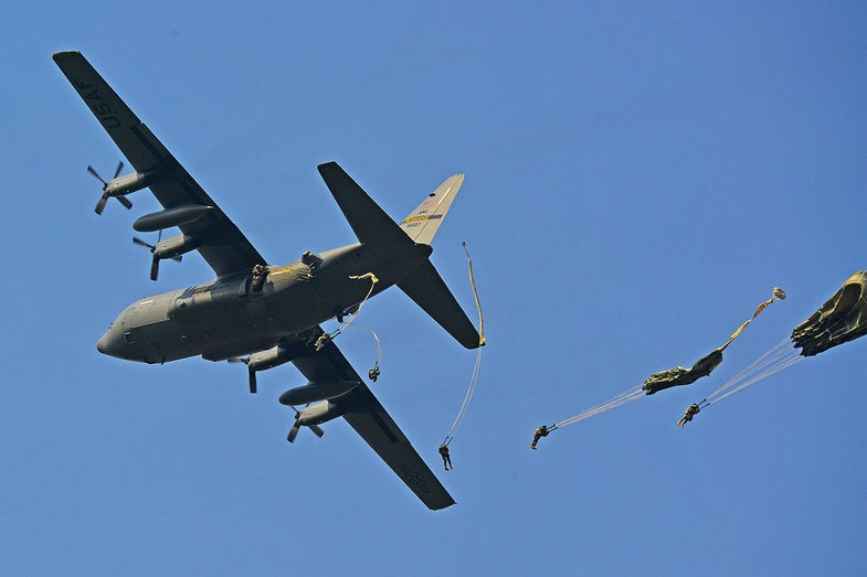 Parachuting Humvees Crashed In Germany