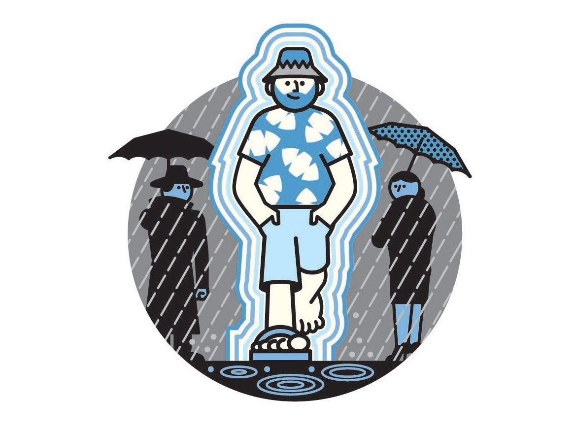What would it take to invent a rain-deflecting forcefield?