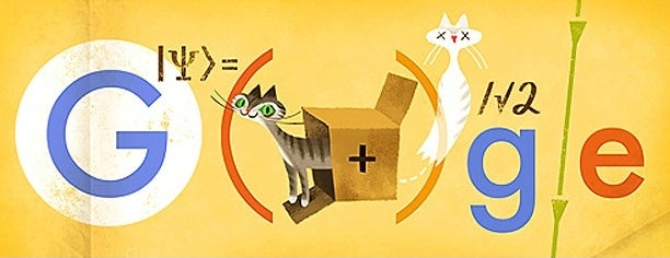 illustration showing the Google label along with cats and mathematical signs