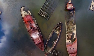 Drone Beautifully Films Staten Island Ship Graveyard