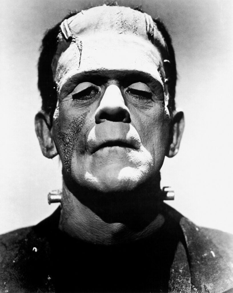 Actor Boris Karloff as Frankenstein's monster