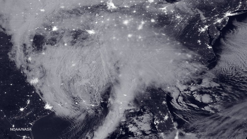NOAA's View Of The East Coast Storm From Space